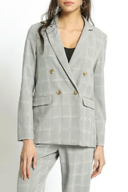 San Souci Double Breasted Plaid Blazer - Product Mini Image