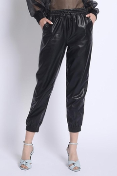 Shoptiques Product: Pu Jogger Pants