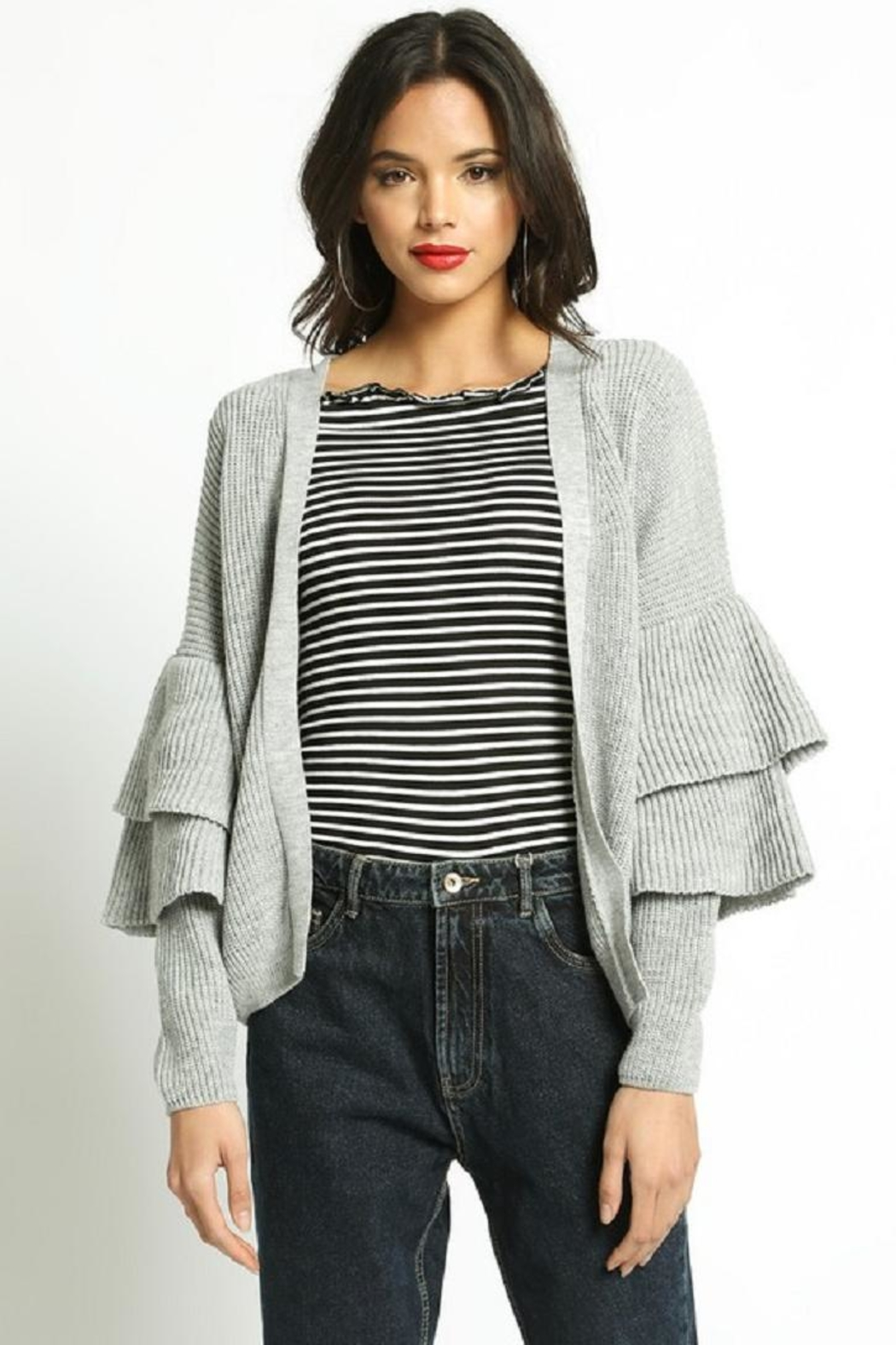 San Souci Tiered Sleeve Sweater - Front Full Image