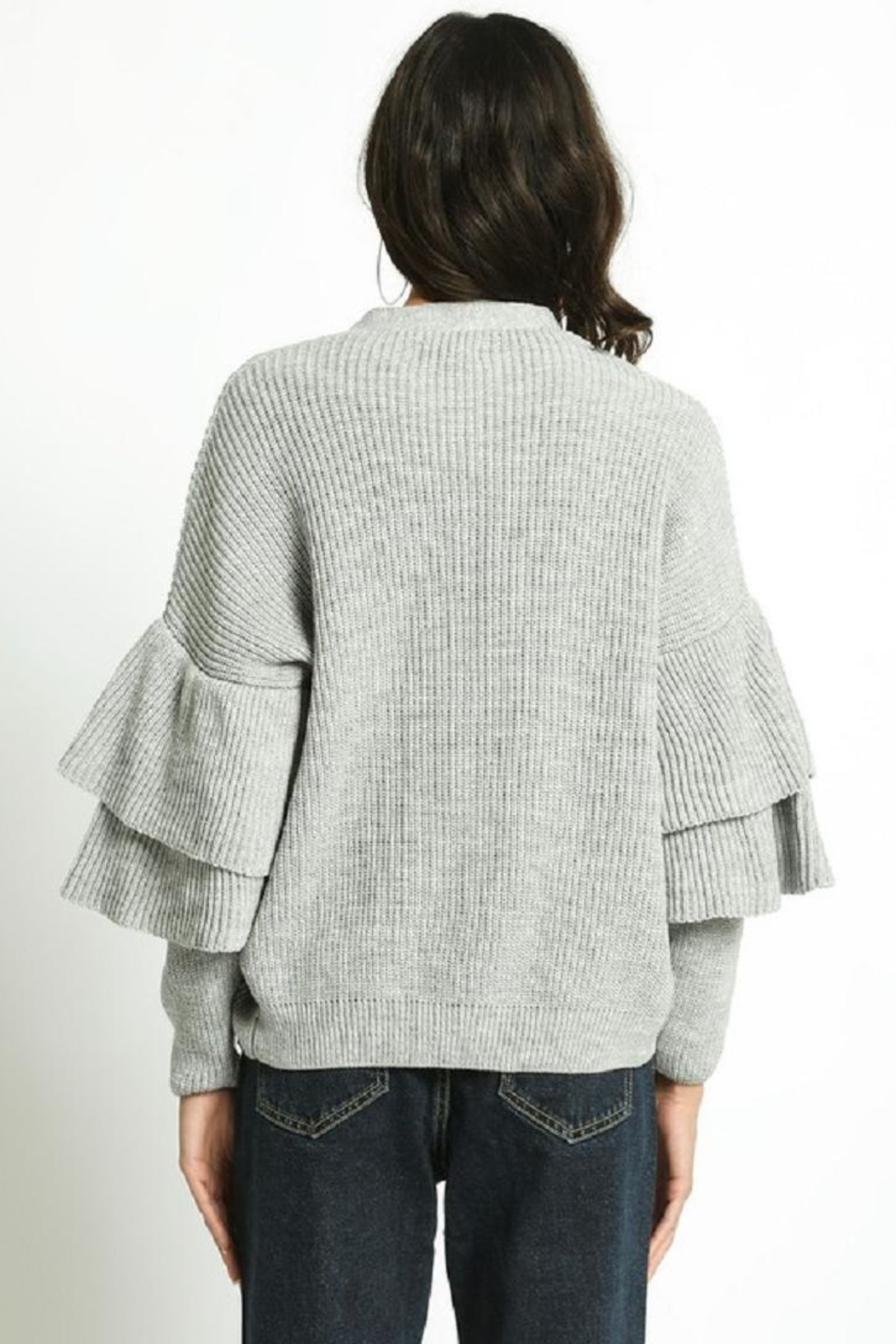 San Souci Tiered Sleeve Sweater - Side Cropped Image