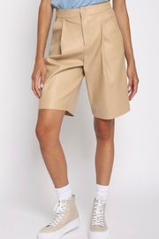 San Souci Vegan Leather Shorts - Product Mini Image