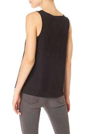 Sanctuary Black Suede Top - Front full body