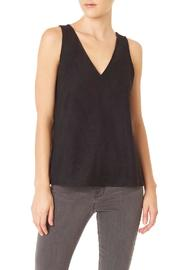 Sanctuary Black Suede Top - Front cropped