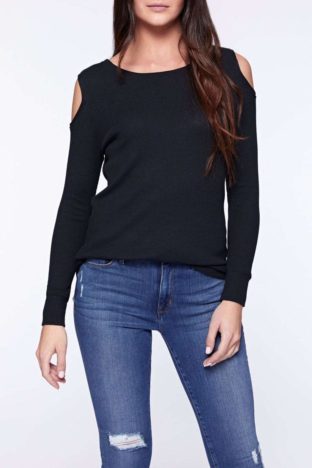 Sanctuary Bowery Thermal Bare Tee - Front Cropped Image