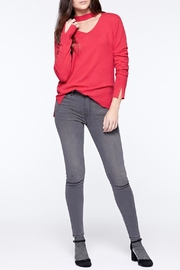 Sanctuary Choker Neck Sweater - Side cropped