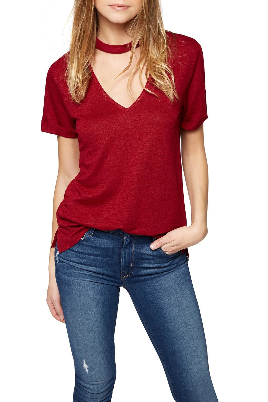 Sanctuary Choker Tee Top - Side Cropped Image