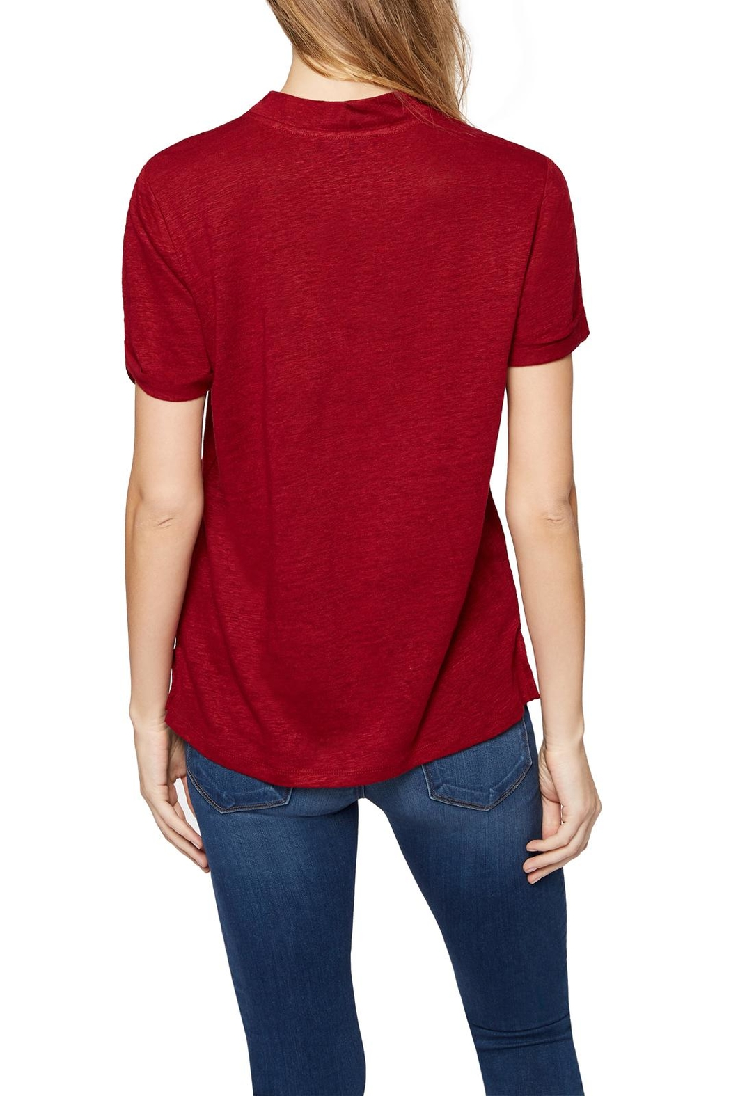 Sanctuary Choker Tee Top - Back Cropped Image