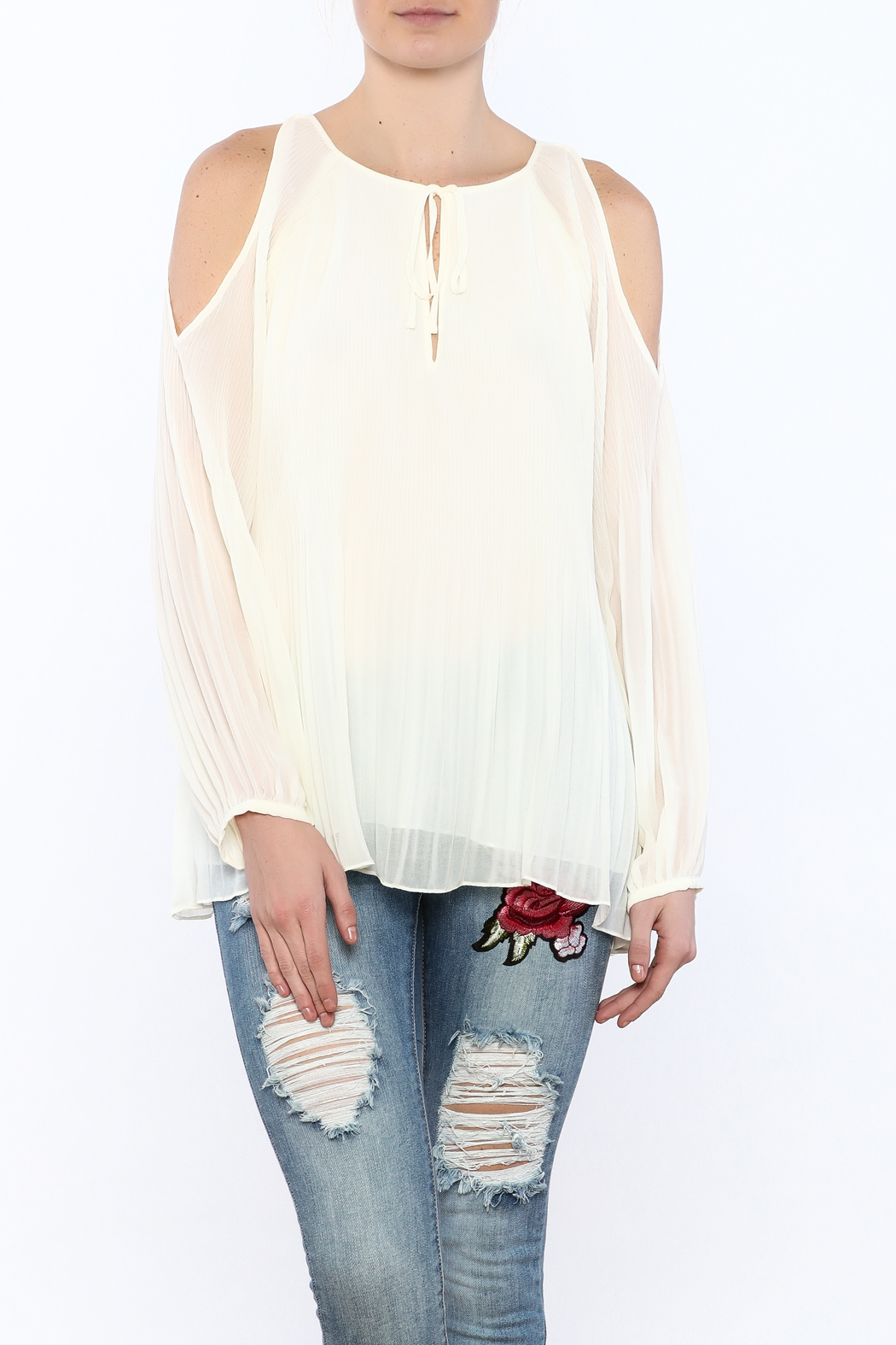 f4da2806 Sanctuary White Flowy Blouse from Oklahoma by Pardon My French ...
