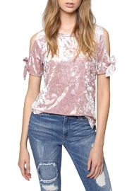 Sanctuary Crushed Velvet Top - Front cropped