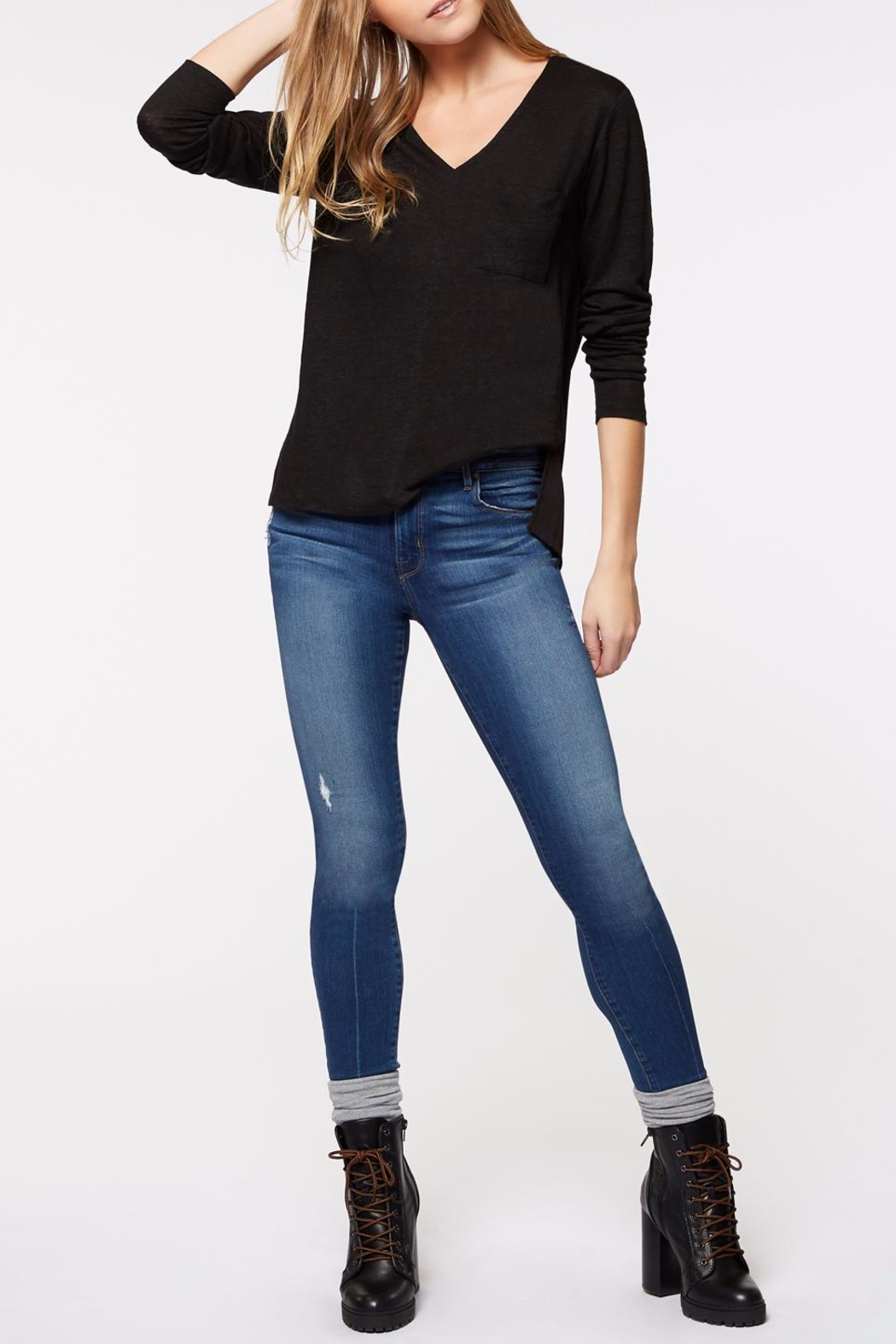 Sanctuary Daily Mix V Neck Top - Side Cropped Image