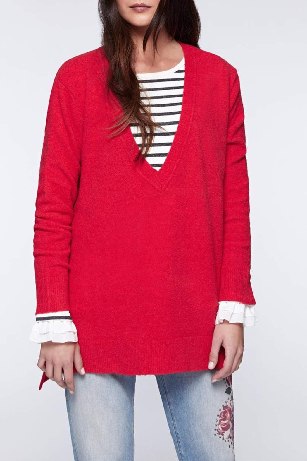 Sanctuary Delancey V-Neck Sweater - Front Cropped Image