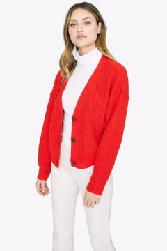 Sanctuary Fiery Red Cardigan - Product List Image