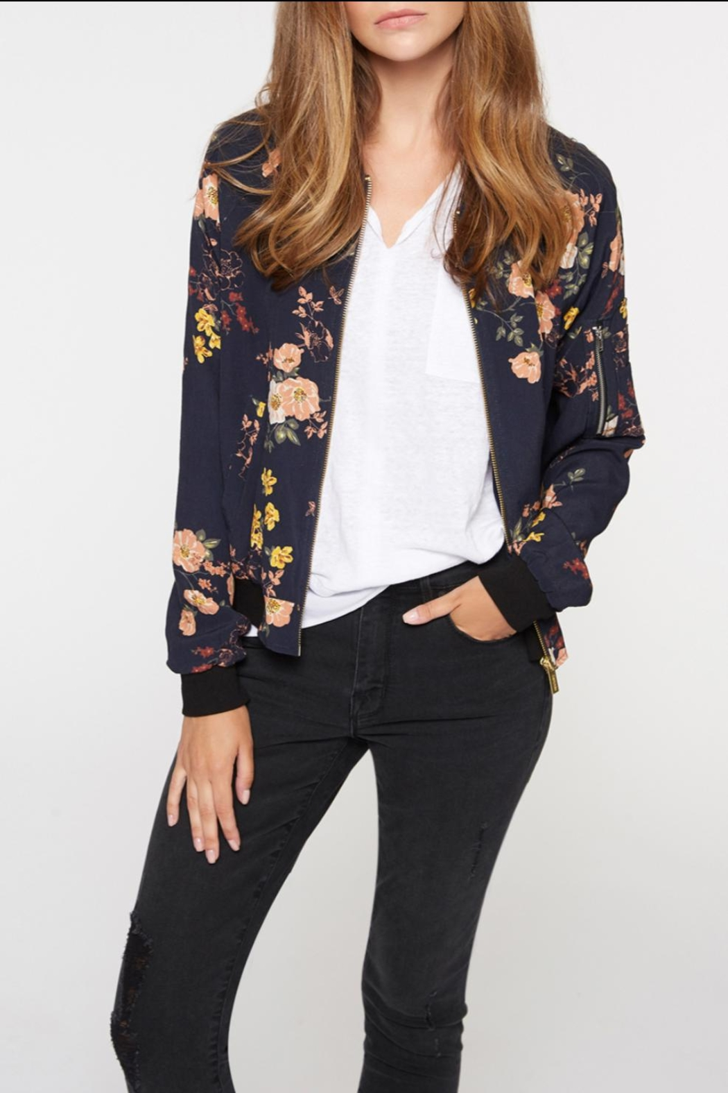 Sanctuary Floral Bomber - Front Cropped Image