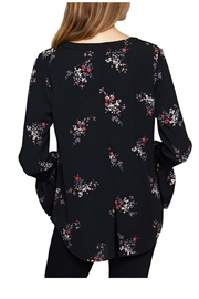 Sanctuary Floral Flutter Top - Front full body