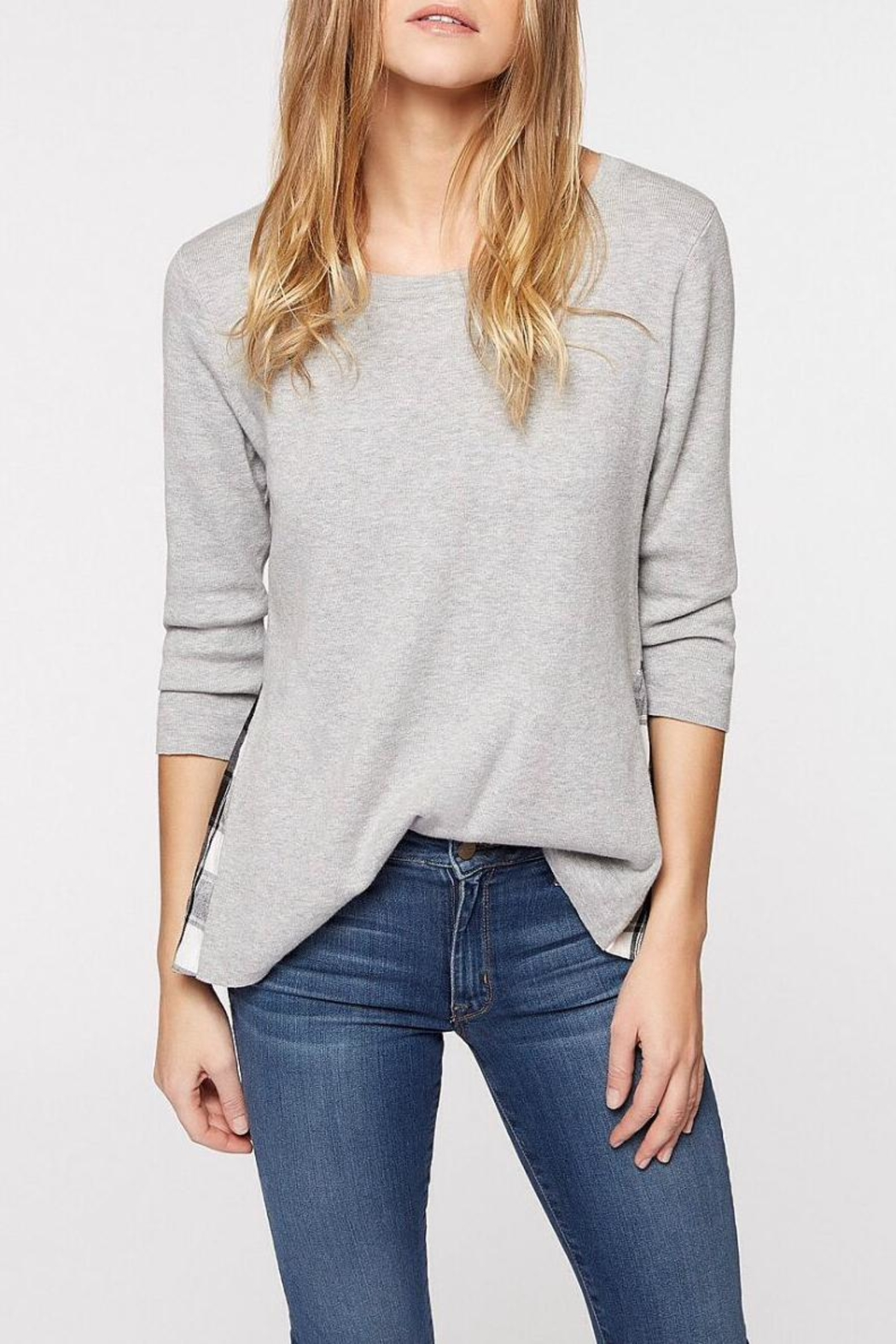 Sanctuary Grey Mix Sweater - Front Cropped Image