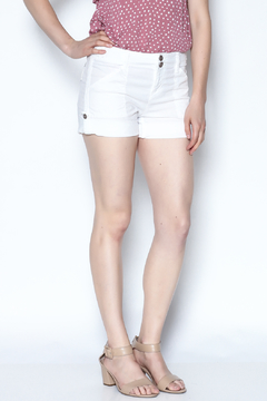 Shoptiques Product: White Rolled Poplin Shorts