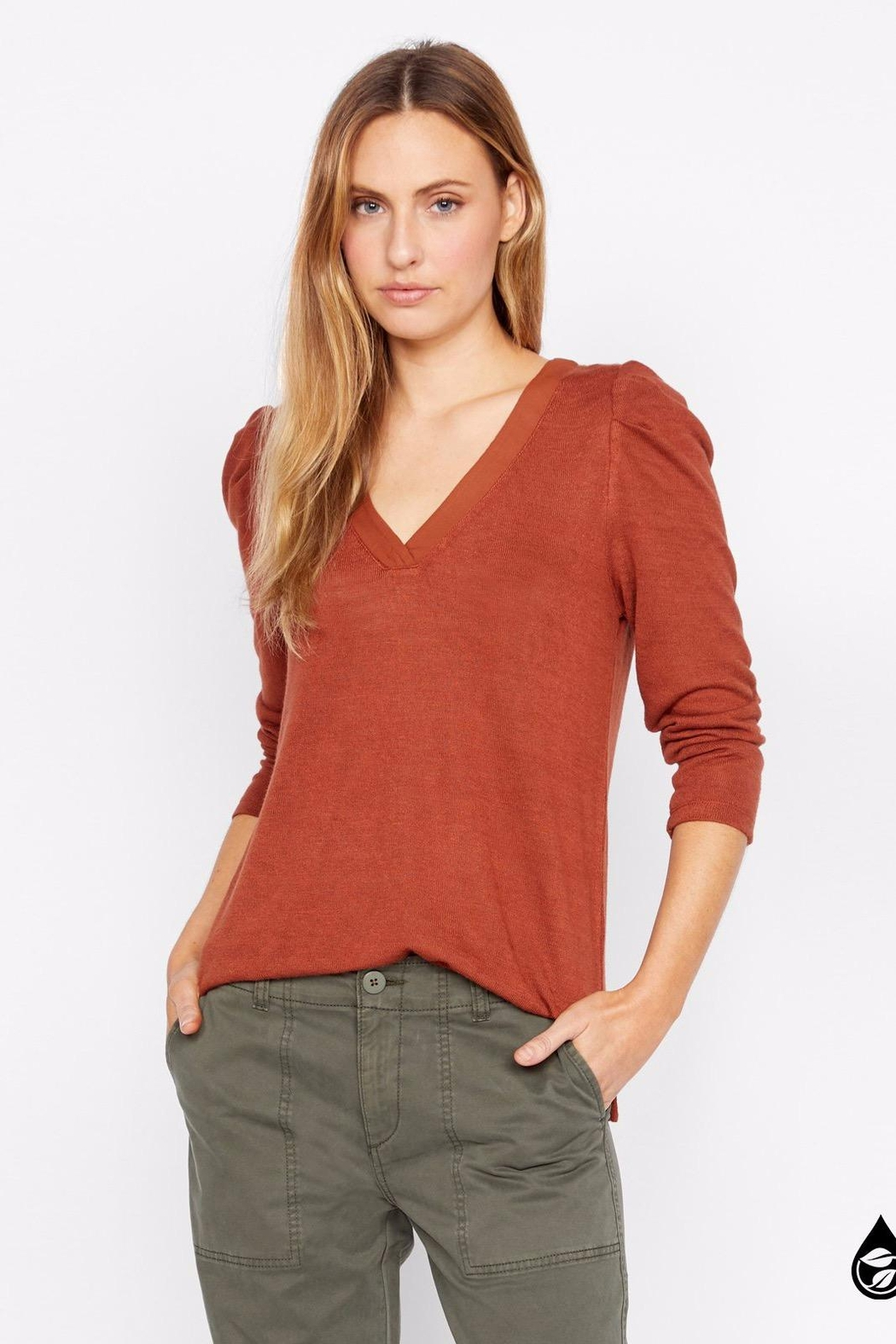 Sanctuary Hannah Pleated Sleeve Top - Front Full Image