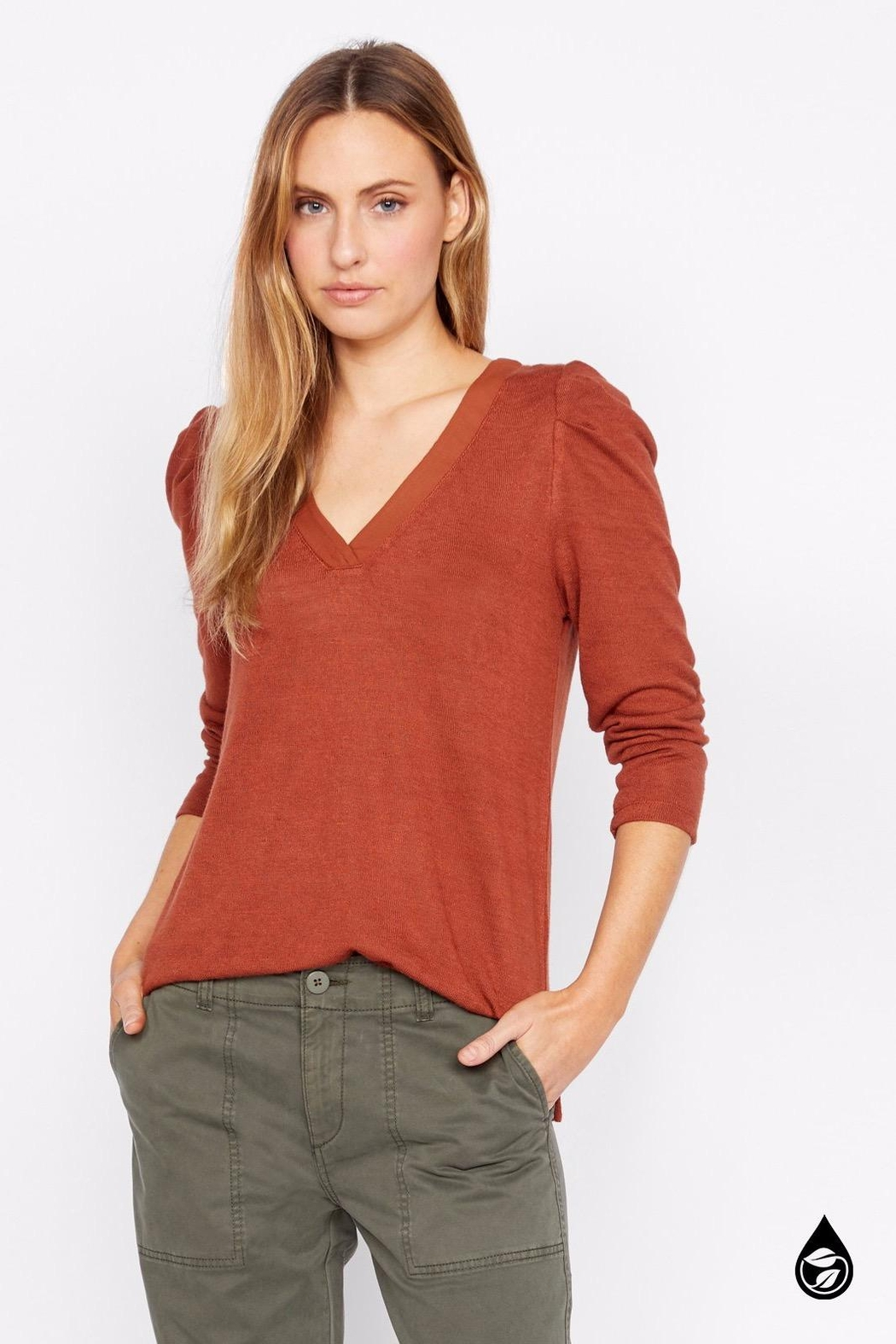 Sanctuary Hannah Pleated Sleeve Top - Back Cropped Image