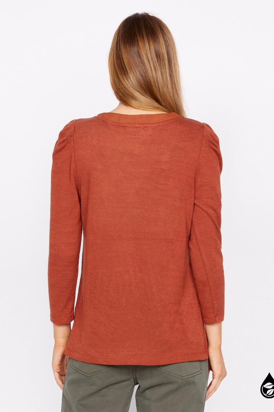 Sanctuary Hannah Pleated Sleeve Top - Side Cropped Image