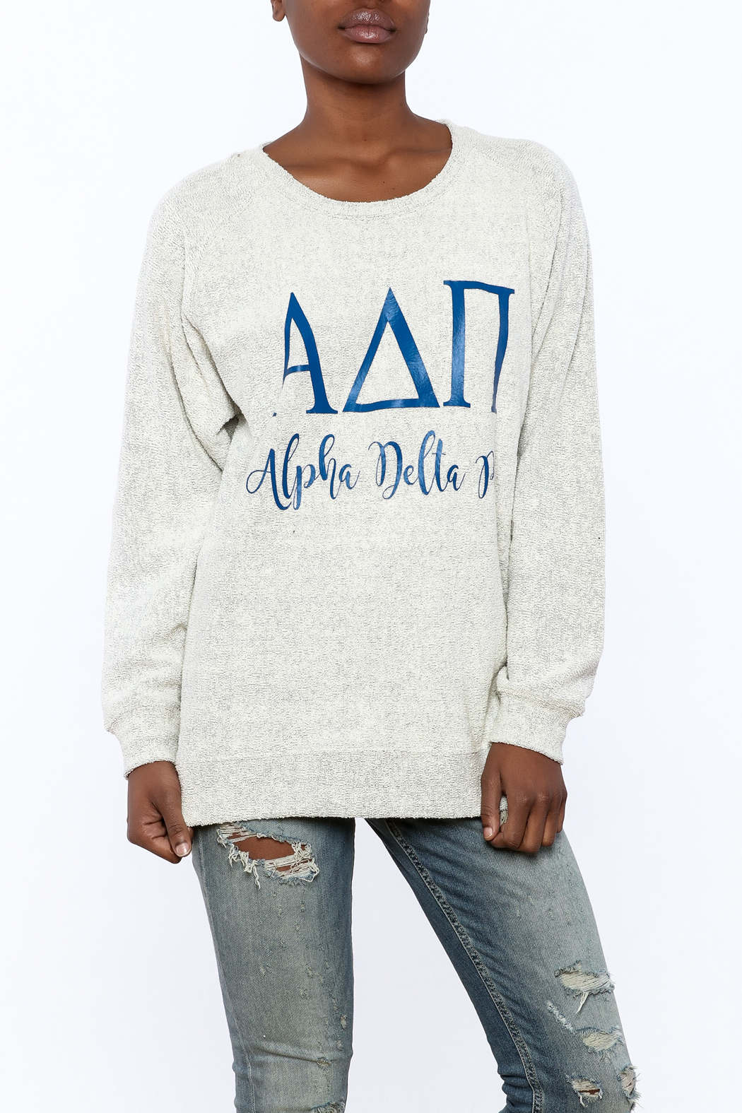 Sanctuary Home And Gifts Alpha Delta Pi Slubbie Shirt - Front Cropped Image