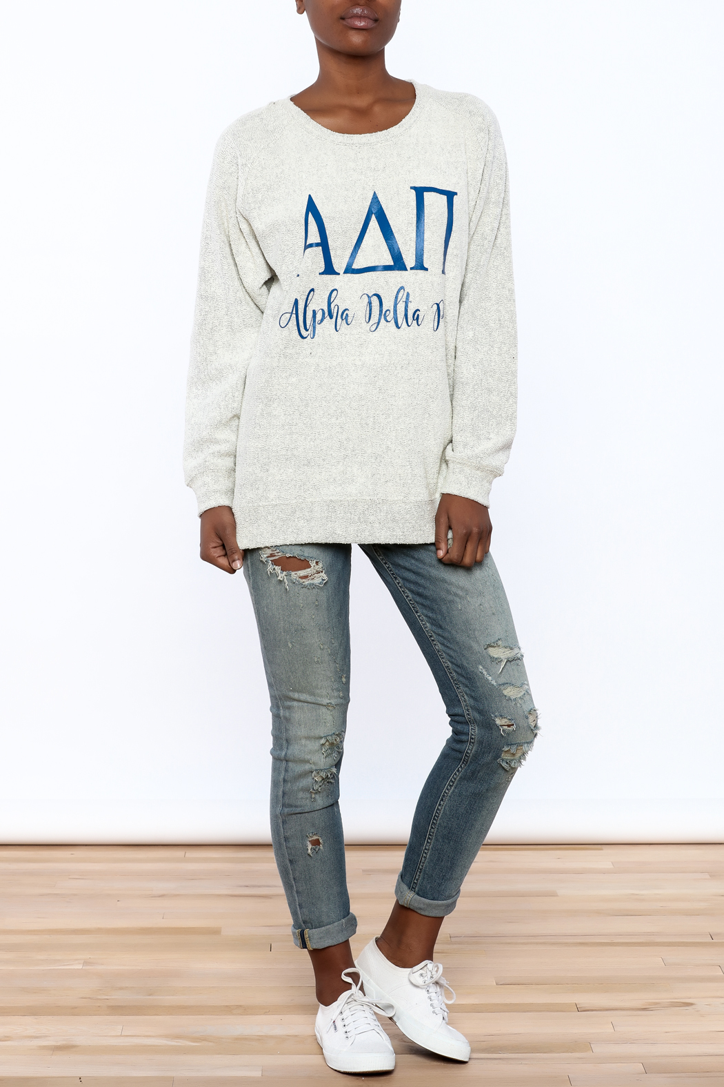 Sanctuary Home And Gifts Alpha Delta Pi Slubbie Shirt - Front Full Image