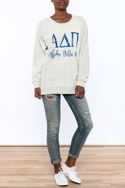 Sanctuary Home And Gifts Alpha Delta Pi Slubbie Shirt - Front full body