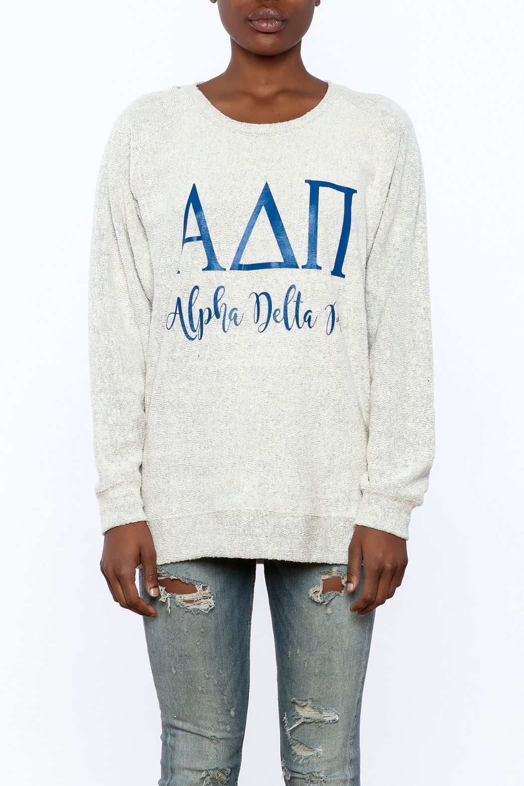 Sanctuary Home And Gifts Alpha Delta Pi Slubbie Shirt - Side Cropped Image