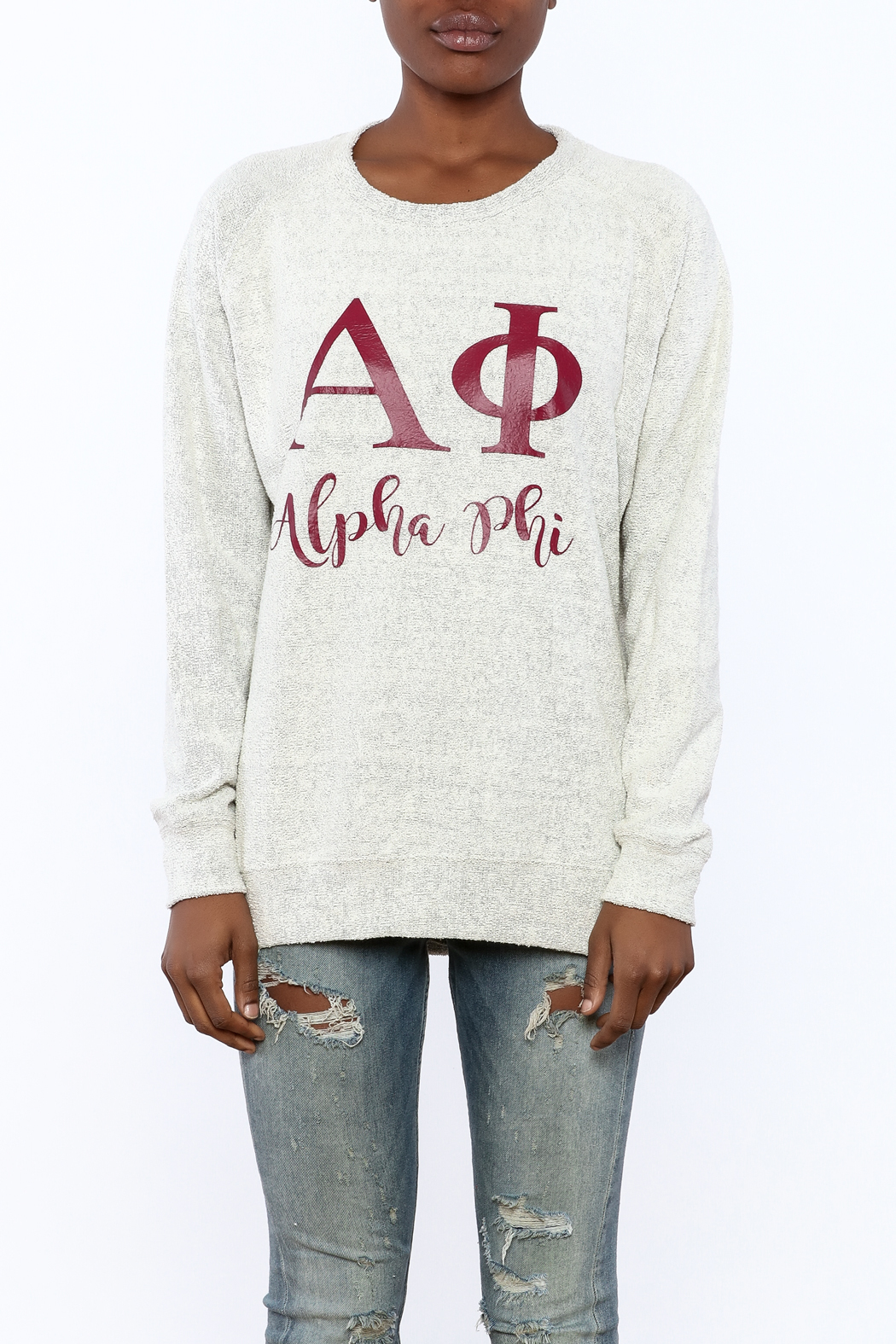 Sanctuary Home And Gifts Alpha Phi Slubbie Shirt - Side Cropped Image