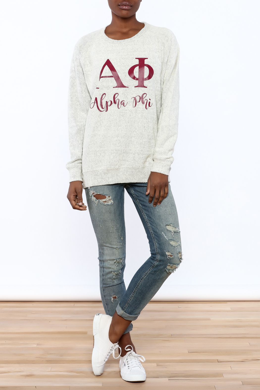Sanctuary Home And Gifts Alpha Phi Slubbie Shirt - Front Full Image