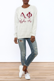 Sanctuary Home And Gifts Alpha Phi Slubbie Shirt - Front full body