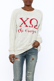 Sanctuary Home And Gifts Chi Omega Slubbie Shirt - Product Mini Image