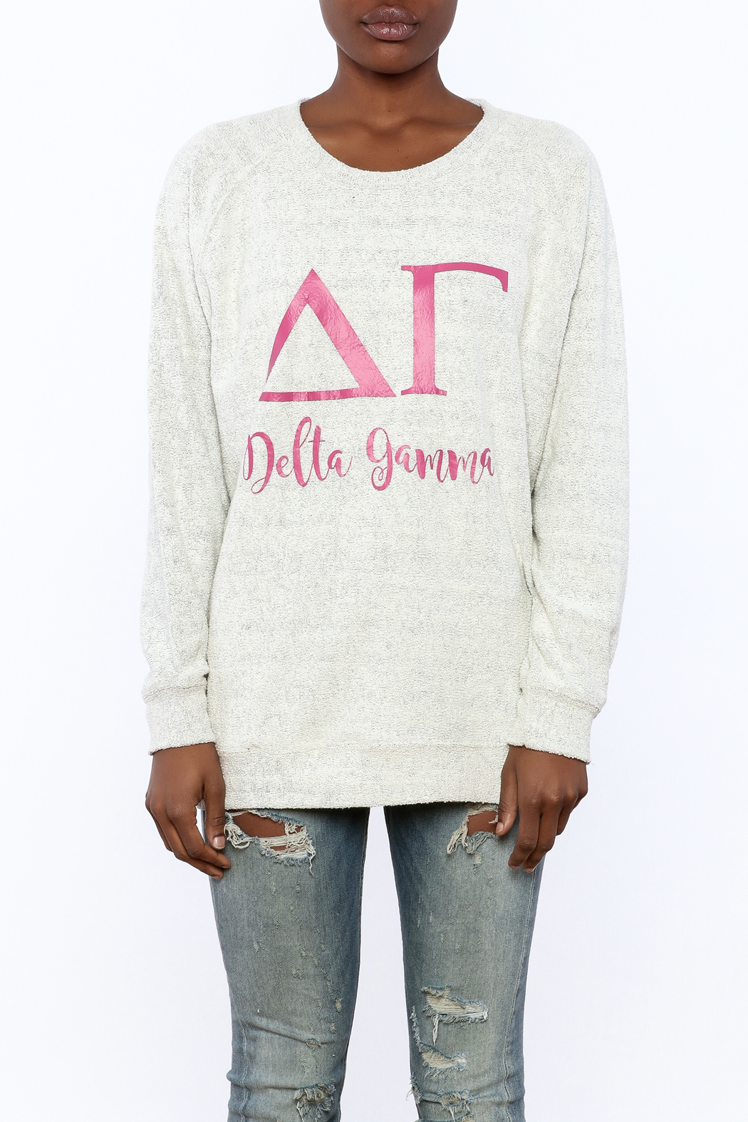 Sanctuary Home And Gifts Delta Gamma Slubbie Shirt - Side Cropped Image
