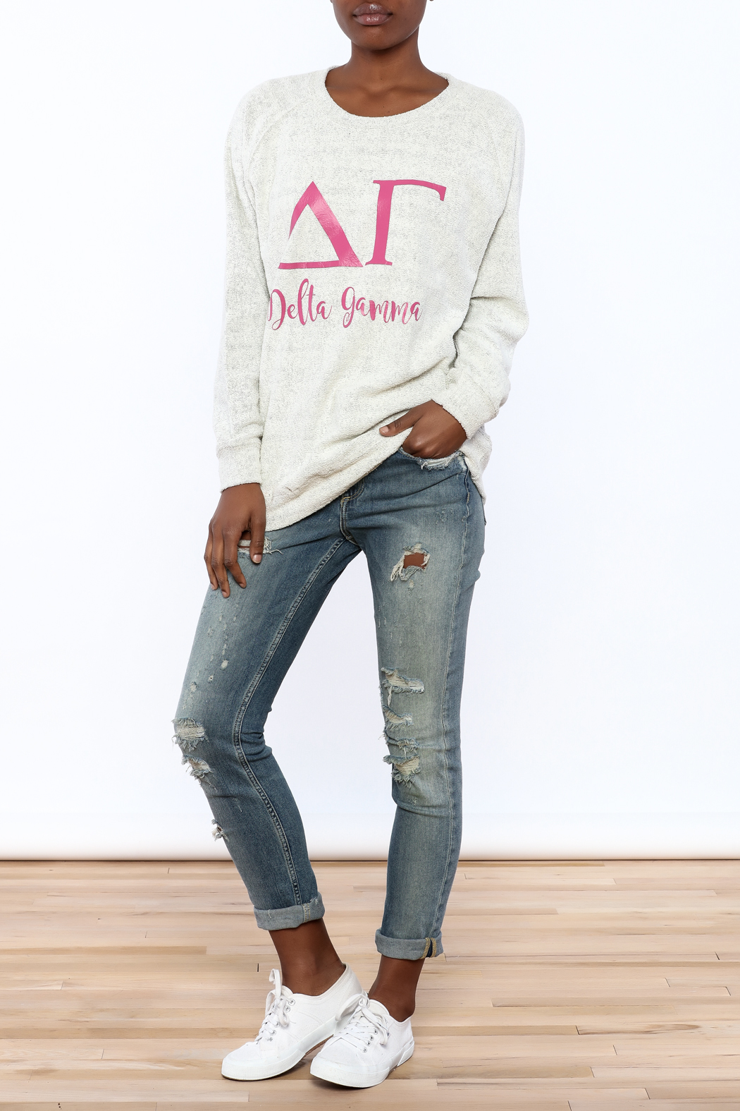 Sanctuary Home And Gifts Delta Gamma Slubbie Shirt - Front Full Image