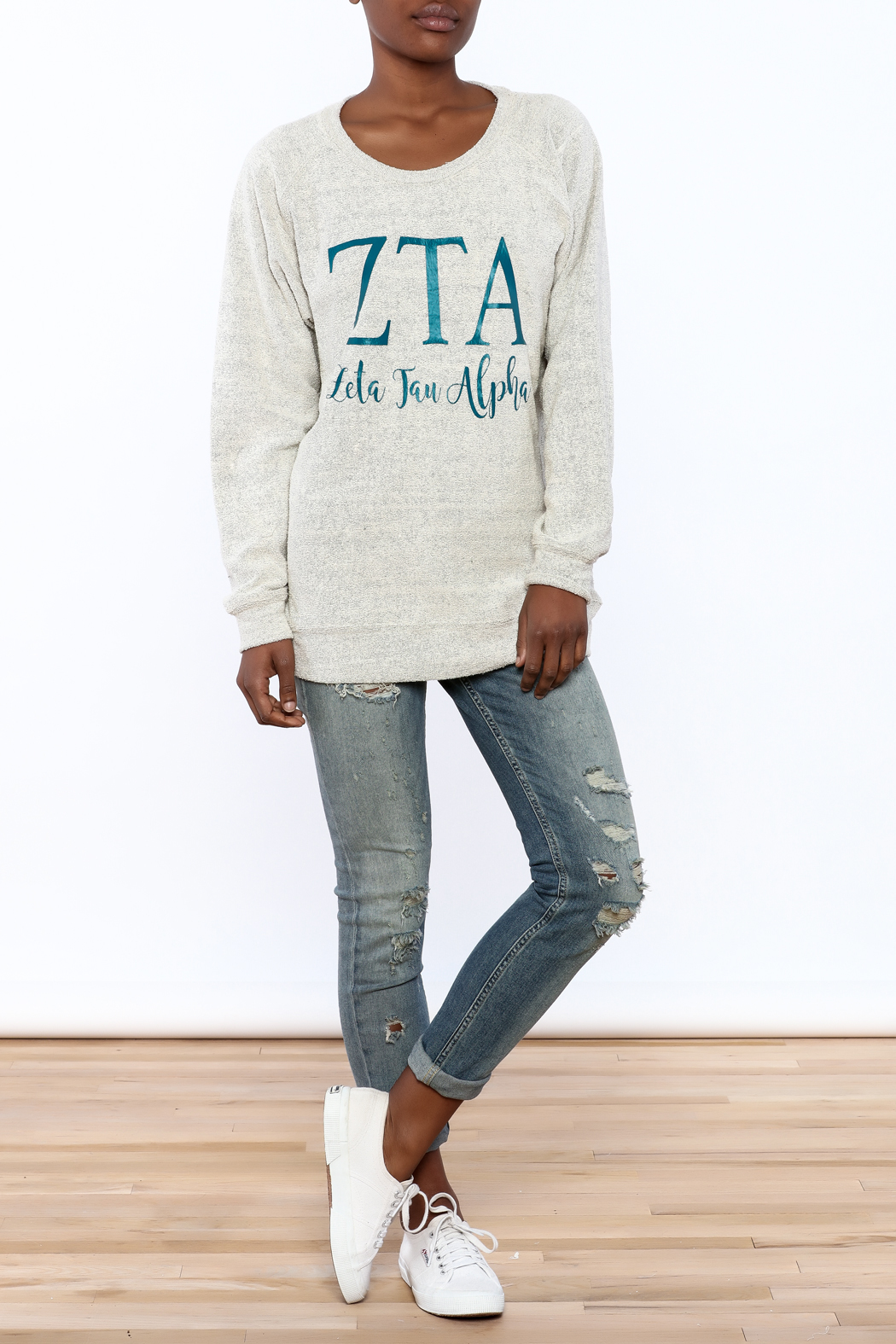 Sanctuary Home And Gifts Zeta Tau Alpha Slubbie Shirt - Front Full Image