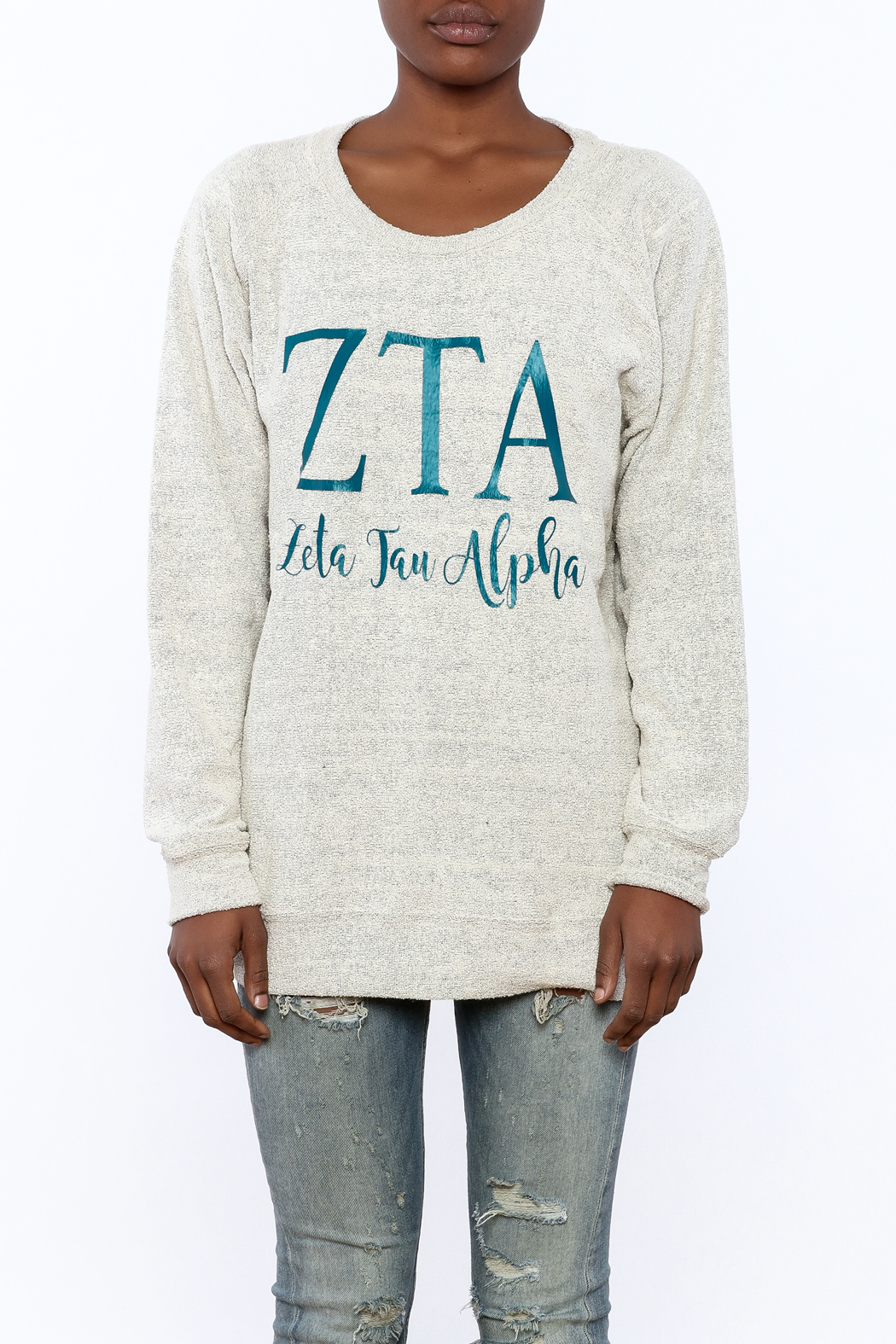 Sanctuary Home And Gifts Zeta Tau Alpha Slubbie Shirt - Side Cropped Image
