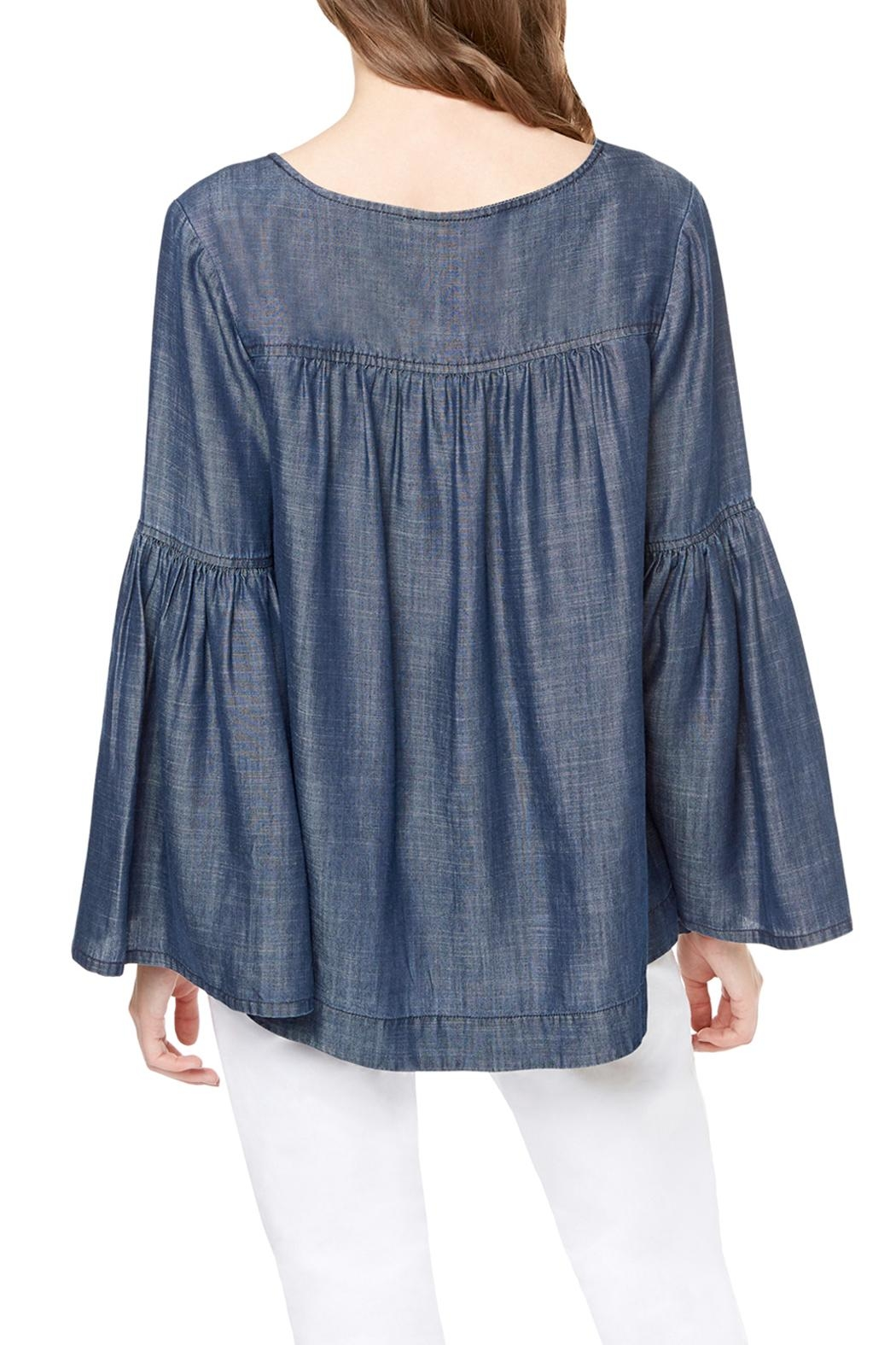 Sanctuary Lila Lace Up Top - Front Full Image