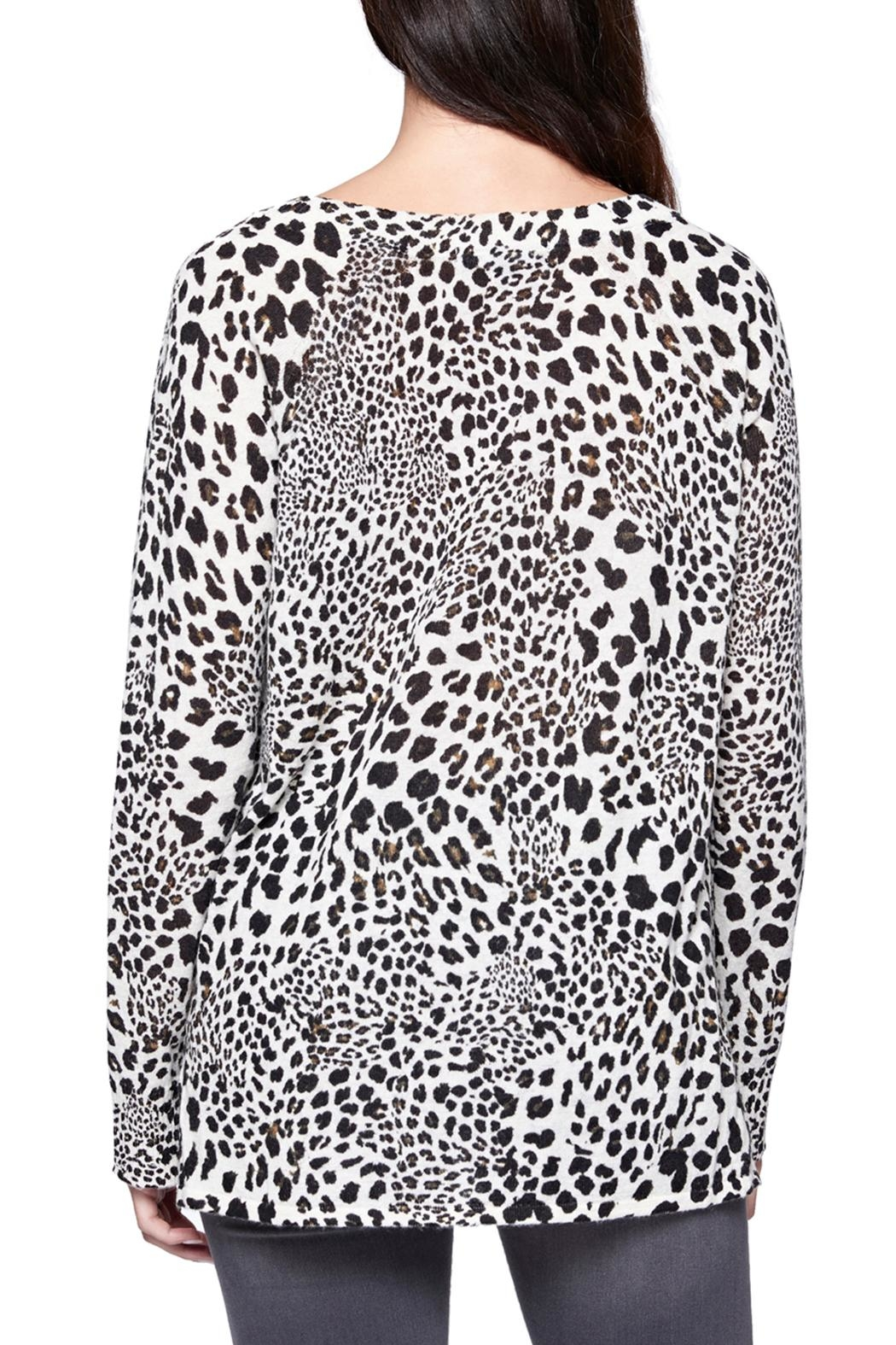 Sanctuary Leopard Crew Sweater - Back Cropped Image