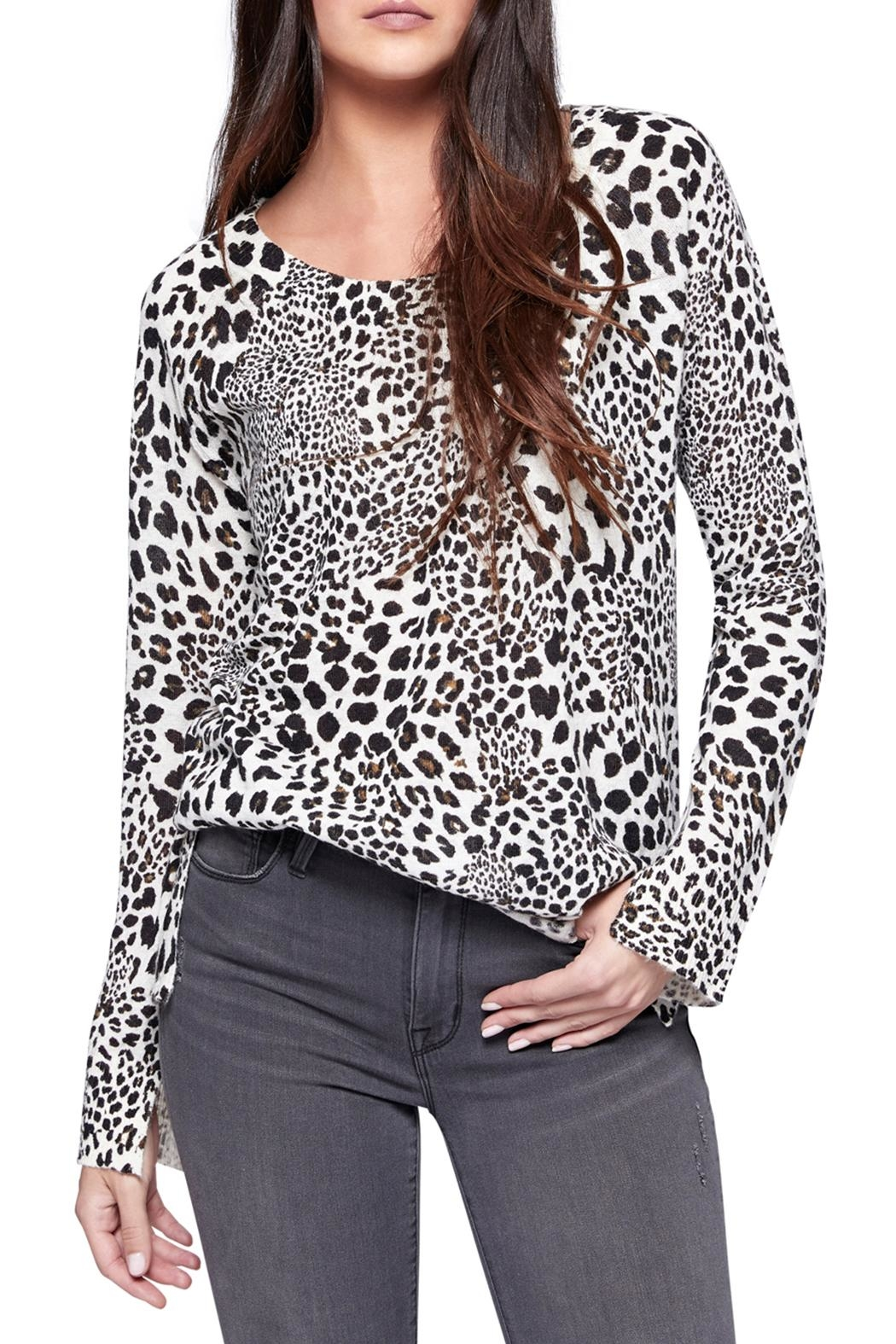 Sanctuary Leopard Crew Sweater - Front Cropped Image