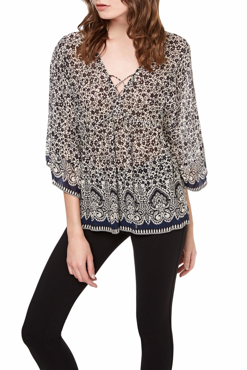Sanctuary Lila Lace Up TOp - Main Image