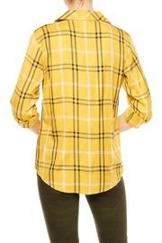 Sanctuary Mustard Plaid Shirt - Front full body