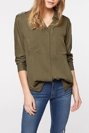 Sanctuary Olive Boyfriend Shirt - Product Mini Image