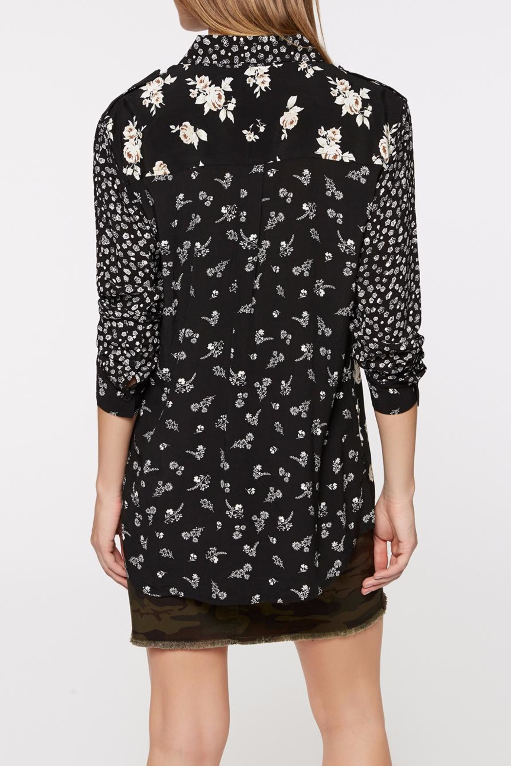 Sanctuary Patchwork Uptown Blouse - Front Full Image