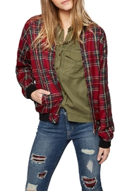 Sanctuary Plaid Bomber Jacket - Product Mini Image