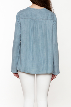 Shoptiques Product: Quinn Denim Embroidered Yoke Top