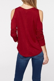 Sanctuary Red Cold Shoulder Top - Front full body