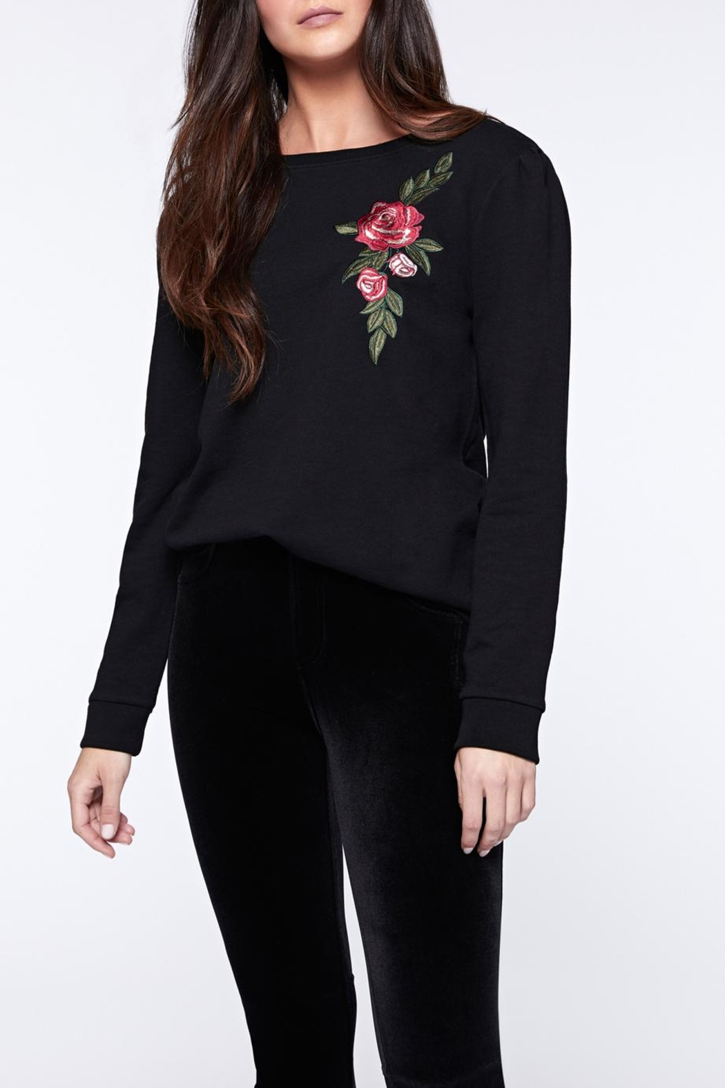 Sanctuary Rose Embroidered Sweatshirt - Main Image