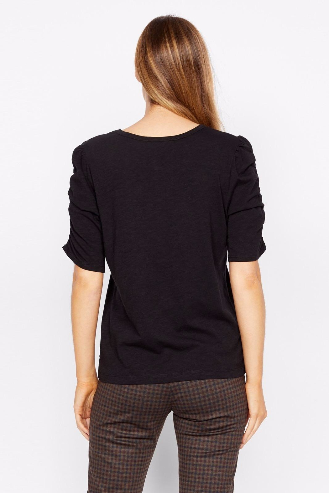 Sanctuary Ruche Sleeve Top - Side Cropped Image