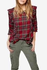Sanctuary Ruffle Plaid Blouse - Product Mini Image