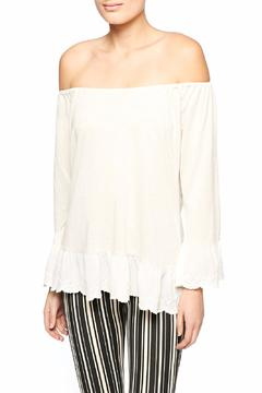 Shoptiques Product: Ruffle Trimmed Off Shoulder Top