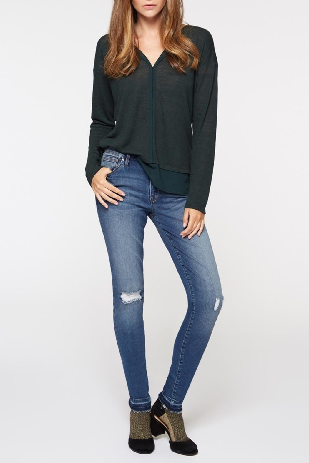 Sanctuary Soft Sweater Tee - Side Cropped Image